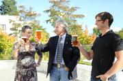 Gov. John Kitzhaber and first lady Cylvia Hayes joined Ninkasi Brewing Co. co-founder Nikos Ridge to toast the launch of Business Oregon's new Oregon Beer, which will be used as a recruitment tool.