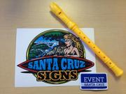 Business event swag, Santa Cruz style.