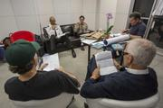 Hays, Abdul-Jabbar and the three directors read the scripts together before the filming.