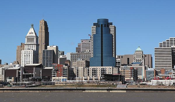 The Banks Phase I stands along Cincinnati's riverfront.