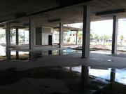 The first-floor parking area at 220 Riverside.