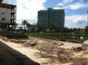 Riverside Avenue and Unity Plaza from the project.