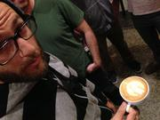 Coffee baristas battle it out at the Thursday Night Throwdown in Philadelphia.