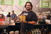 """Jamie Rodriguez, a brewer with Hopworks Urban Brewery, subscribes to the company's organic ethos. Hopworks was one of 13 brewers that poured its wares at Feast Portland, which takes place through Saturday at 5 p.m. """"We're really excited about our canning line: It gives us a chance to bring our beer to many more customers,"""" said Rodriguez. """"It's given us a chance to extend our brand."""""""