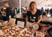 Pacific Pie's Sarah Curtis-Fawley swears by locally sourced ingredients and area suppliers for such items as the company's chocolate-bourbon pie and beef-stout pie, which features meat cooked in Burnside Brewing Co.'s darkest ale. Pacific Pie was one of 59 food booths at Feast Portland's Oregon Bounty Grand Tasting, which runs through Saturday afternoon.