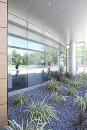 Landscaping around American River College's new student center