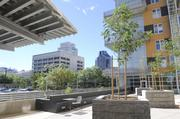 Patios on the east and west sides of the building provide a scenic spot for residents to relax and enjoy the downtown views.