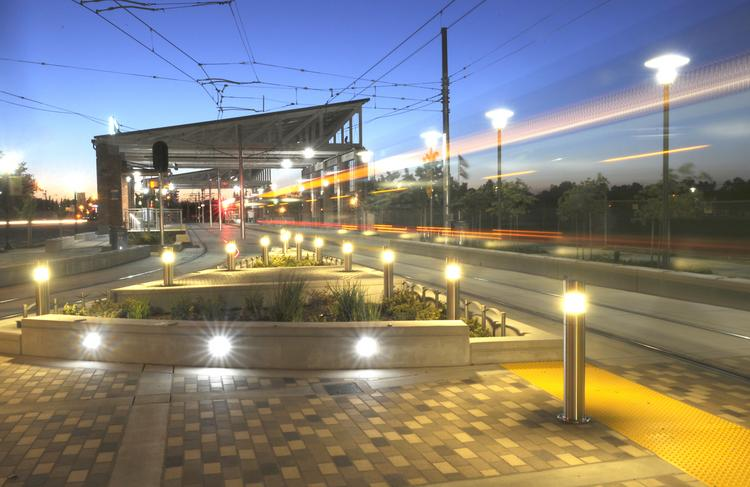 The Township Nine light-rail station, which opened in mid-June, is the starting point for this transit-oriented community that eventually will have 3,000 housing units.