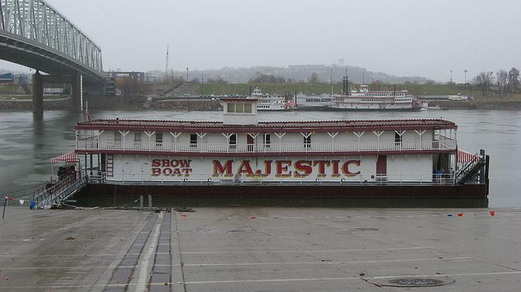 The 90-year-old Showboat Majestic, which is docked on the Ohio River, is empty for the first time since 1991.