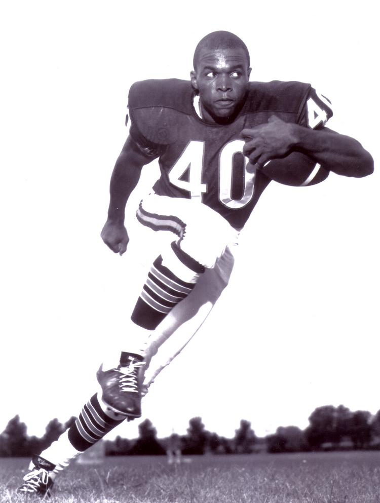 Gale Sayers, a former player for the Chicago Bears, poses in this undated photo.
