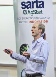 Tule Technologies has a direct wireless measurement system for measuring daily crop water usage for growers. Here, Tom Shapland, chief technology officer, makes a winning pitch.