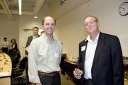 Posing are AgStart PitchFest judges John Selep, founder of AgTech Innovation.com  and Ron Tackett of USDA Rural Development.