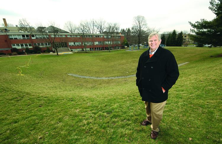 Don Rhoten, CEO of the Western Pennsylvania School for the Deaf, stands near the site where a $9 million dormitory will be built on the Edgewood campus.