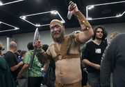 Ethan Christonson traveled from Reno to attend. He's dressed as Viking, a character from one of his favorite video games.
