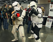 Star Wars storm troopers, outfitted by Star War Rebel Legion, an international costuming organization created by, of and for people interested in creating costumes from the Star Wars mythos.