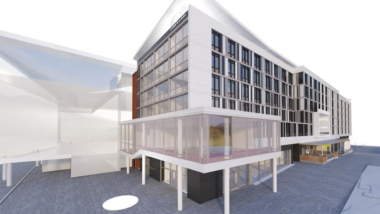 Rendering of Aloft Durham Downtown opening in May 2015