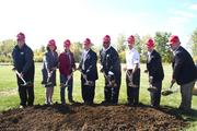 Jackson joined dignitaries and city officials in the ceremonial groundbreaking.