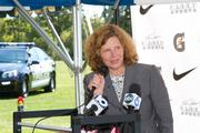 Linda Logan of the Greater Columbus Sports Commission was on hand to welcome the project to town.
