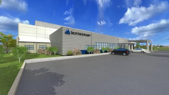 Iron Mountain has broken ground on a 30,000 square foot data center in Northborough. The plan for the project is shown here in a rendering.