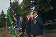 VFW Post 7824 Honor Guard was on hand for the presentation of colors.