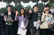 Twenty-nine people from 10 different countries were sworn in as U.S. citizens at a Fort Vancouver celebration.