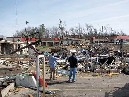 Last year's tornado in Center Point damaged dozens of businesses, but experts say small disasters can also prove costly for companies.