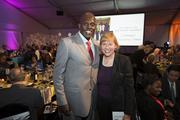 Vincent Lyles of the Boys and Girls Club of Greater Milwaukee and Susan Bellehumeur of Robert W. Baird & Co. Inc.