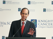 Dr. Brian Druker will oversee the cancer research team at OHSU if the Knight Cancer Challenge manages to raise its targeted $1 billion.