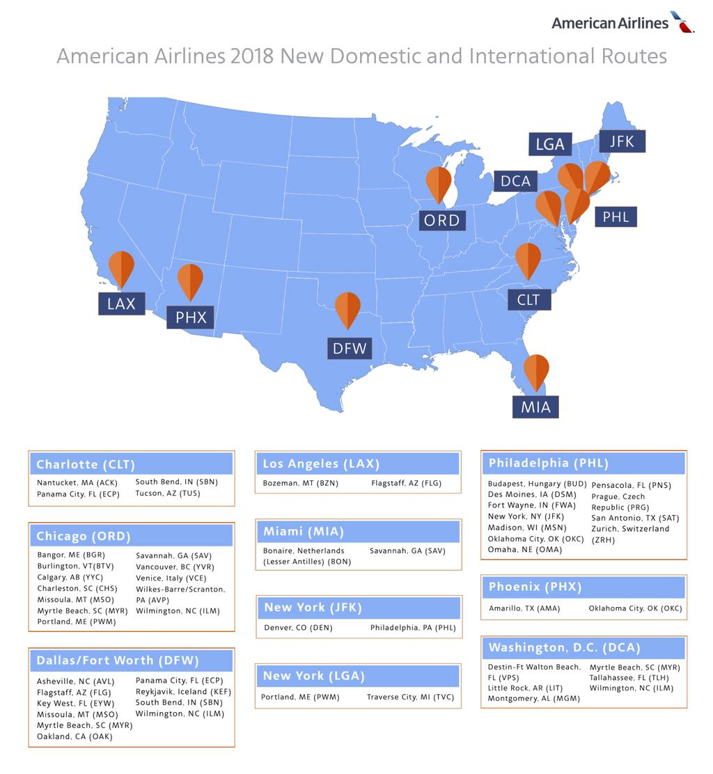 American Airlines adding 12 new routes from O\'Hare Airport ...