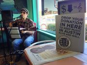 Austin musician Pete Minda performs Tuesday at Thundercloud Subs at 903 West 12th St. as part of the HAAM Benefit Day.