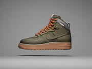 The Nike Air Force 1 Duckboot marries the company's iconic Air Force 1 basketball shoe and a winter boot.