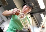 Glass artist Keunae Song has been renting studio time in the glass hot shop of Pratt Fine Arts Center for two years.
