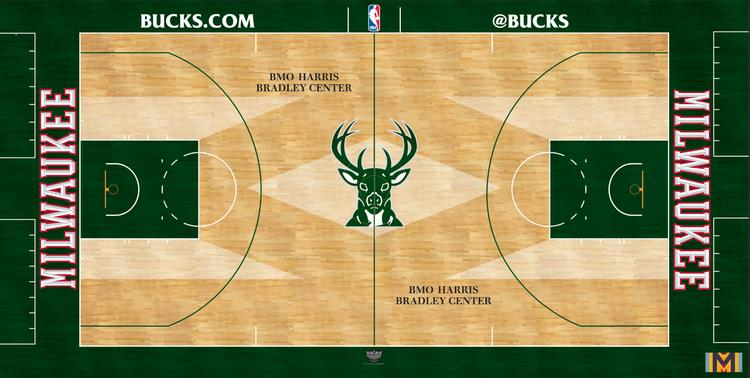 The Milwaukee Bucks new playing court returns to action Wednesday night.