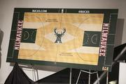 A rendering of the court was on display.