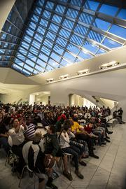 The event was held at the Milwaukee Art Museum.