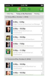 When I Work App edits staff schedules and communicates with employees, allows coworkers to share information about work schedules and swap shifts. Available for: iPhone, iPod touch, iPad and Android users. ThisClicks also has an App Data Room that allows companies to create their own iPad apps for sales reps and training purposes.