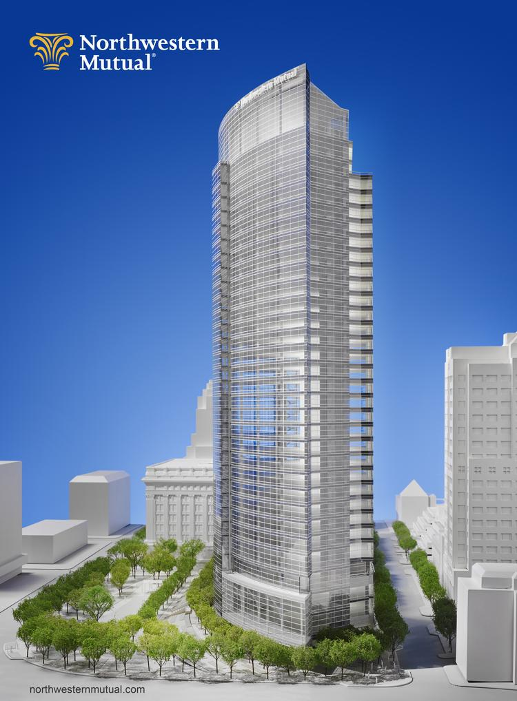 Northwestern Mutual's building is expected to create 1,000 construction jobs.