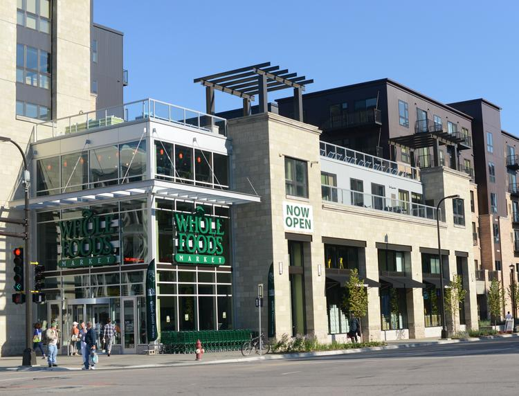 The downtown Minneapolis Whole Foods grocery store's grand opening was Wednesday.