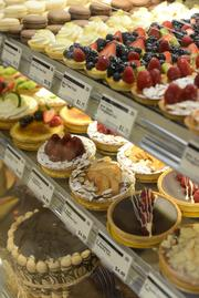 The downtown Minneapolis Whole Foods store's dessert cabinet
