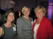 From left, Sharon Friedlander of Clark Construction Group, Joan Renner of The Brick Cos. and Cynthia Bell of Finishes Sales Group.