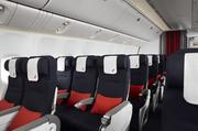 Air France's new economy cabin seats will provide more legroom and a wider tray table.