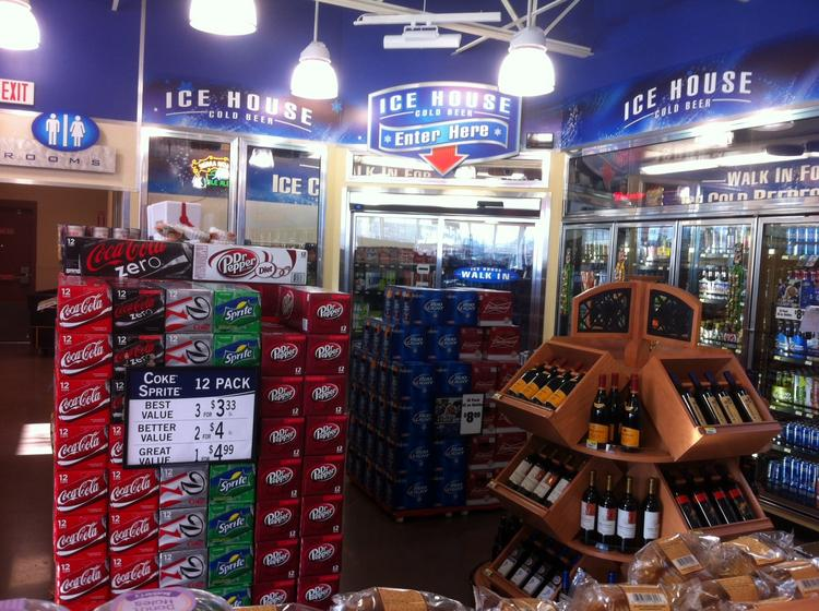 """The 4,650-square-foot Corner Store, located at 555 Rio Bravo Blvd. SE near Broadway Boulevard, features indoor and outdoor dining and a """"beer cave."""" It's one of three stores locally built from the ground up with a new format."""