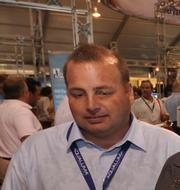 Kevin Cummings of Yacht Path at the Fort Lauderdale International Boat Show.
