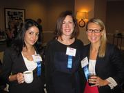 The Washington Business Journal held an exclusive breakfast for our Women Who Mean Business alumnae on Sept. 13 at the Four Seasons. About 70 women get together four times a year for different discussions and to hear from different speakers. From left, Elnaz Azar, Jackie Pyke and Kathleen Pierce-Gilmore, all of Capital One Bank.