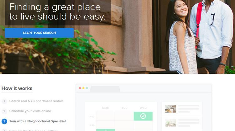 Urban Compass' technology platform lets customers search for apartments, schedule visits and apply for their new home, all online.