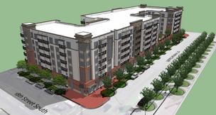 LIV Parkside, a 228-unit apartment complex next to Railroad Park, has an opening date in 2015.