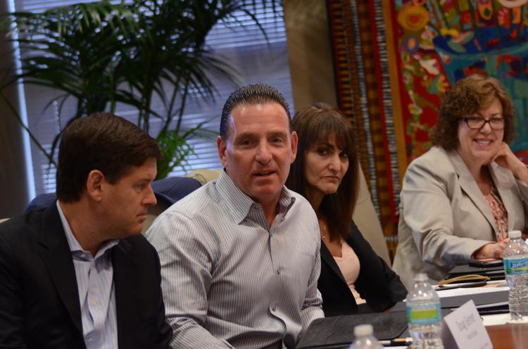 Left to right: Doug Gehret, general manager, Hilton Orlando and Dan Giordano, general manager, Rosen Shingle Creek