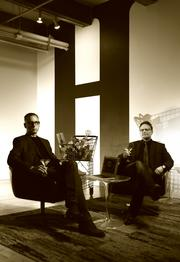 "Chris Lloyd, left, managing partner, and Eric Gutierrez, partner and creative director of Hey, in the lobby of the ad agency's Seattle offices. These modern ""Mad Men"" say  nothing's worse than an ad."