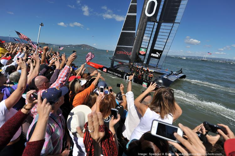 Oracle wins America's Cup races in San Francisco.