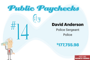 *David Anderson's total pay includes a payout in the amount of $72,160.79.